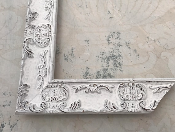 Ornate White Picture Frame - Shabby Chic White Picture Frame ...