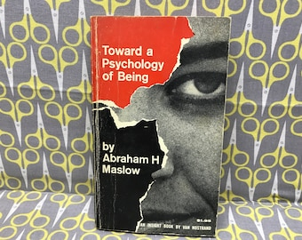 Toward a Psychology of Being  by Abraham H Maslow paperback book vintage