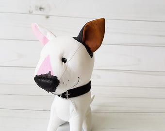 English bull Terrier Plush dog toy Stuffed animal puppy dog Plush animal Toy Pitbull Birthday gift him, custom stuffed dog
