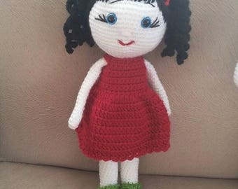 amigurami/ dolls/crochet girl doll