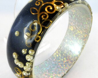 Bracelet, Bangle, Resin, Holo