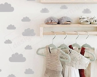 Cloud, Cloud Wall Decals, Cloud Decals, Cloud Stickers, Set of 50 Clouds Wall Decal, Nursery Decor, Tiny Clouds Wall Decals, Wall Decor