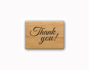 Thank you! - Mounted rubber stamp, Sweet Grass Stamps #23