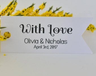 Wedding FAVOR TAGS, wedding tags, wedding thank you tags, tags for wedding, bride and groom tags,set of 10 tags