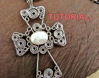 WIRE JEWELRY TUTORIAL - Wire Wrapped Cross Pendant