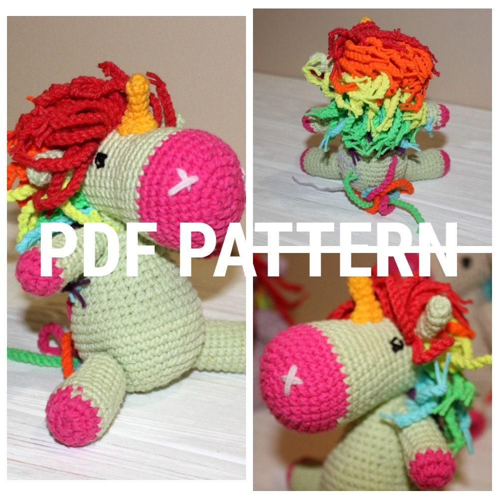 unicorn pattern pdf, unicorn tutorial, knit unicorn, amigurumi ...