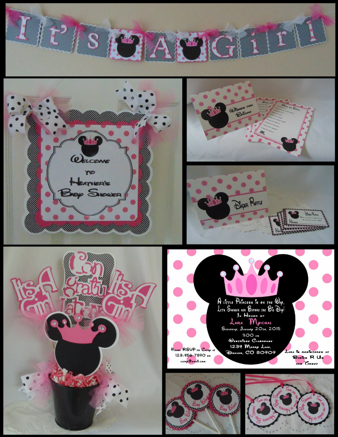 Minnie mouse baby shower party package shower decorations zoom amipublicfo Choice Image
