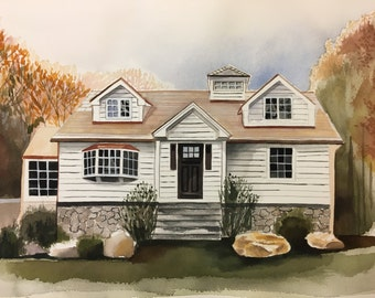 Custom House Painting - Great housewarming gift!