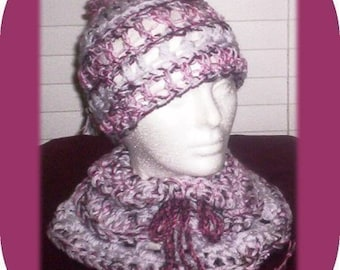 Let it Snow COWL SCARF and HAT Crochet Pattern