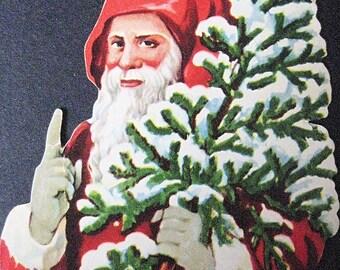 Vintage Santa-Die Cut/Scrap Art-Set of 2