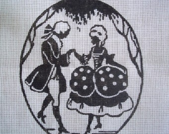 Printed Canvas of a Lady and Gentleman in Period Clothing