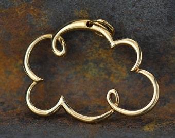 Natural Bronze Cloud Pendant