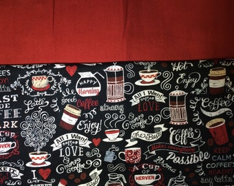 Coffee Chalkboard Espresso Your Needles W.I.P. Cozy. Keeps stitches on Circular Needles & DPN. Made to Order.