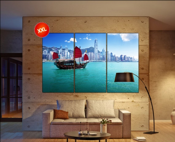 Hong Kong  canvas wall art Hong Kong wall decoration Hong Kong canvas wall art art Hong Kong large canvas wall art  wall decor