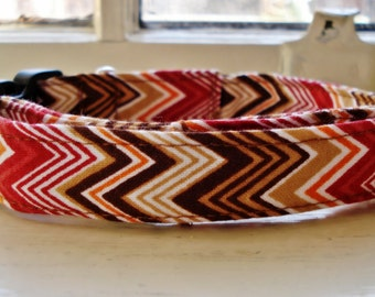 Red Zags - Eco Dog Collar (Wide)
