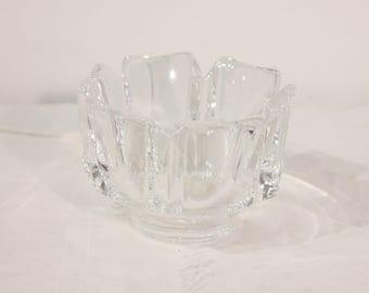 Vintage Mid-century Crystal Candle Holder by Orrefors Sweden