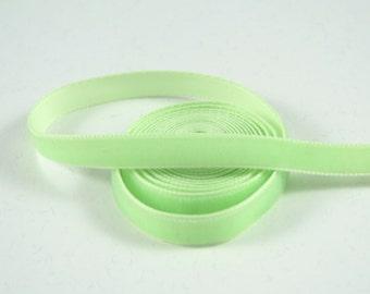 Celery Green 9 mm Polyester Velvet Ribbon- 1 Yard
