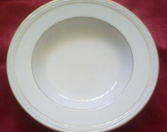 Noritake White Scapes Soup Bowls (4)