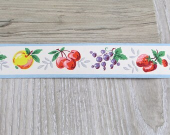 Fruit Wallpaper Etsy - Wall paper borders for kitchens