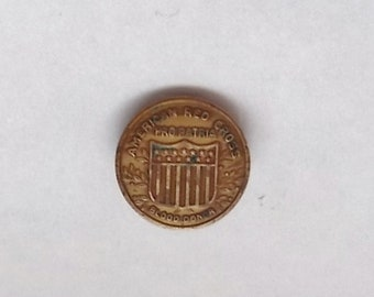 Vintage 1940's WWII Era American Red Cross Pin-Pro Patria-Blood Donor-Jewelry Clasp-Patina-FREE SHIPPING!