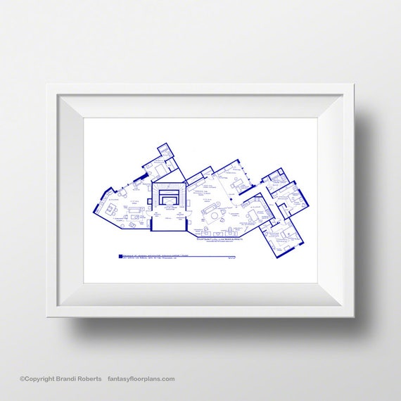 The big bang theory art print tv show apartment floor plan the big bang theory art print tv show apartment floor plan minimalist wall art blueprint for home of sheldon leonard and penny malvernweather Gallery