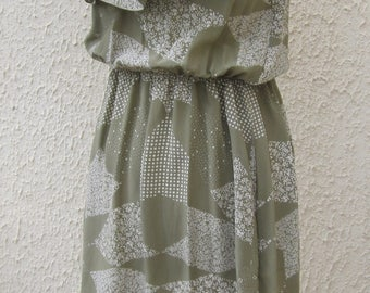 dress vintage LILIANE BURTY Paris 100% silk size 38
