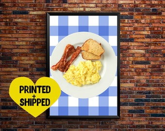 Ron Swanson Breakfast, parks and recreation, poster, ron swanson poster, nick offerman, parks and rec poster, wall decor, wall art, print