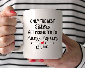 Pregnancy Reveal to Aunt Gift Aunt Again Mug New Aunt Gifts Pregnancy Announcement for Aunt Coffee Mug Aunt Established Cute Coffee Mug Red