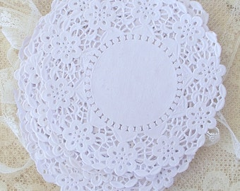 Rustic Doily Doilies, Wedding, Bridal Shower, Vintage Wedding, French Lace Doily, Paper Doily, Card Making, Scrapbooking, Gift Wrap, White