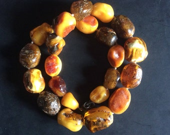 Impressive Raw Butterscotch Baltic Amber Necklace, stunning 115g