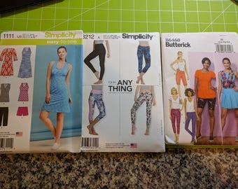 Exercise Patterns:  Simplicity 1111, Simplicity 8212, Butterick B6460