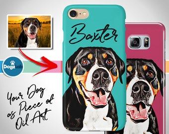 Custom Dog Phone Case custom, Gift for dog lover, Gift for dog mom, iPhone 8, iPhone 7, iPhone 6, iPhone X , Samsung Galaxy S9, S8, S7
