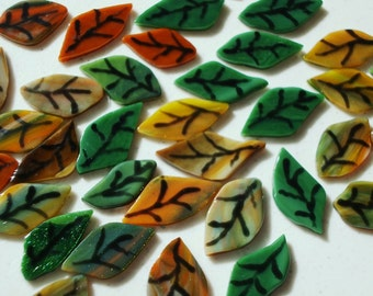Leaves - Fused Glass Autumn Collection (10 each or more)