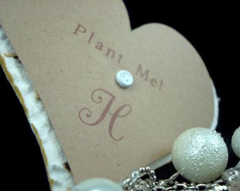 Personalized Wildflower Seeded Handmade Paper Heart Wedding Favors - Free Personalization ~ Set of 50 - 3 inch