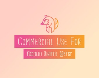 Acaliadigital Commercial use, Commercial Use License No Credit Required