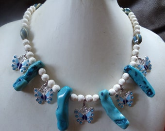 Mary-Lou statement Neclaces Vintage nature/turquoise