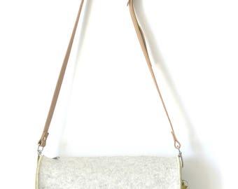 CrossBody Bag, CrossBody Purse, Felt CrossBody bag, Handmade Merino Wool Felt, Marcie Bag