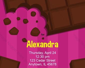 Candy bar invitation Etsy