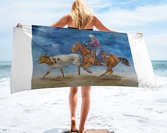Cowboy Roping Towel