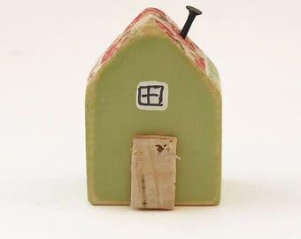 Decorative Mini House, Wooden Houses, Miniature House, Tiny House, Tiny Gifts, House Ornament, Miniature Gifts, House Figurine, Little House