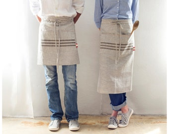 Kitchen Apron - Long and short linen apron perfect for chefts and restaurants -Free shipping in the USA.