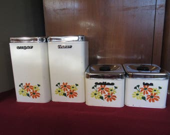 1960s Stackable Canister Set - 4 pieces