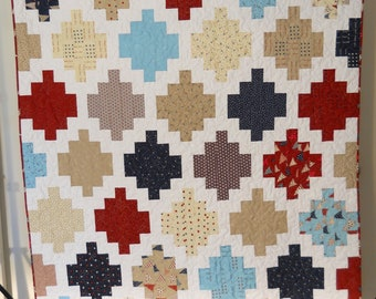 Patriotic Quilt / Patriotic Lap Quilt / Red White Blue Quilt / Stars and Stripe Quilt / Patriotic Quilt