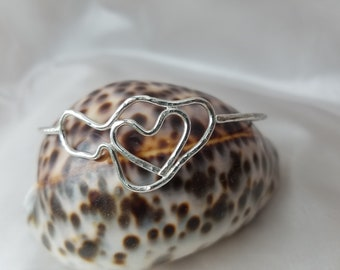 Thick 12G Sterling Silver Love  Maui Bangle