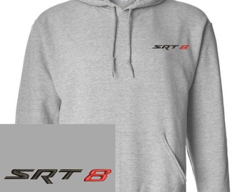 SRT8 Embroidered Gray Hoodie Pullover Hooded Sweatshirt New