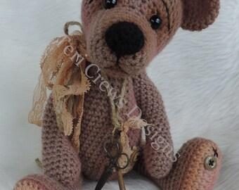 Prim Teddy Bear Crochet Pattern by Teri Crews