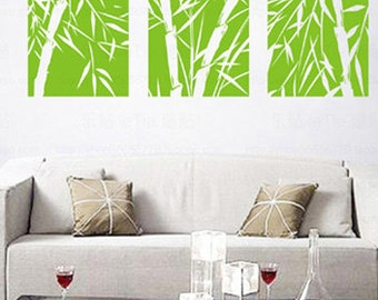 Delightful More Colors. Big Bamboo Frameless Draw Wall Decals ...
