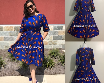 Sparks Will Fly-African Waxprint Dress
