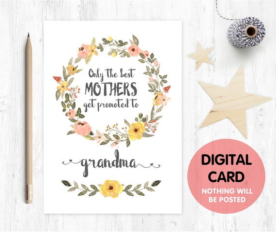 PRINTABLE pregnancy reveal, you're going to be a grandma, only the best mums get promoted to grandma, I'm pregnant, baby reveal