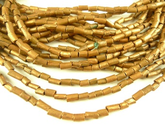 """22"""" strand handmade copper metal spacer trade beads African Ethiopia AA-0025"""